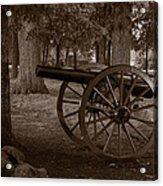 Gettysburg Cannon B W Acrylic Print