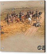 Gettysburg Cyclorama Detail Pickett's Charge  Acrylic Print