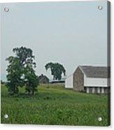 Gettysburg First Shot Fired Acrylic Print