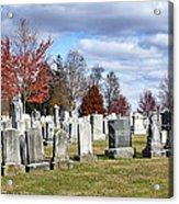 Gettysburg National Cemetery Acrylic Print by Brendan Reals