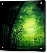 Ghastly Gate Acrylic Print by Erin Scott