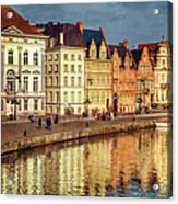 Ghent Waterfront Acrylic Print