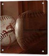 Ghost Baseball Acrylic Print by Emily Newby