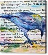 Ghost Crow Acrylic Print