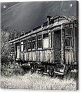 Ghost Passenger Train Coach Acrylic Print