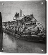 Ghost Steamer In Bw Acrylic Print