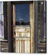 Ghost Town Handcrafted Door Acrylic Print