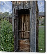 Ghost Town Outhouse - Montana Acrylic Print