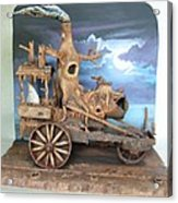 Ghost Tractor Acrylic Print