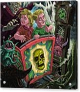 Ghost Train Fun Fair Kids Acrylic Print by Martin Davey