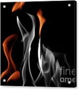 Ghostly Flames Acrylic Print