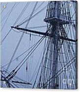 Ghostly Rigging In Snow Acrylic Print