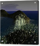 Ghosts And Daisies Acrylic Print
