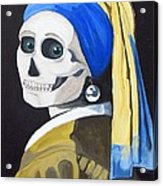 Ghoul With Pearl Earring Acrylic Print