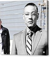 Giancarlo Esposito as Gustavo Fring and Aaron Paul as Jesse Pinkman @ TV serie  Breaking Bad Acrylic Print