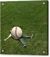 Giant Baseball Acrylic Print by Diane Diederich