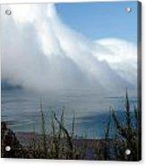 Giant Fog Bank Over Pacific Ocean In California Acrylic Print