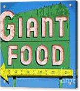 Giant Food Acrylic Print