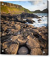 Giant's Causeway Circle Of Stones Acrylic Print