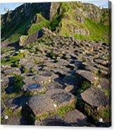Giant's Causeway Green Peak Acrylic Print