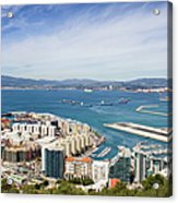 Gibraltar City And Bay Acrylic Print