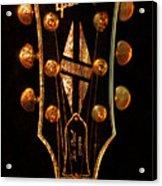 Les Paul - Gibson Headstock Acrylic Print