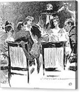Gibson: Dinner Party, 1894 Acrylic Print