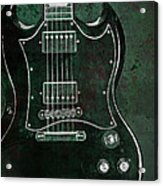 Gibson Sg Standard Green Grunge Acrylic Print