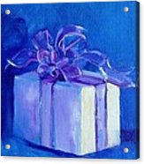 Gift In Blue Acrylic Print