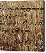 Gift Of Finest Wheat Acrylic Print