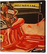 Gilles Villeneuve At Monaco 1980 Acrylic Print