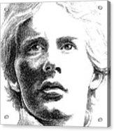 Gilles Villeneuve Acrylic Print by Diane Fine