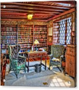 Gillette Castle Library Acrylic Print