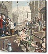 Gin Lane, Illustration From Hogarth Acrylic Print