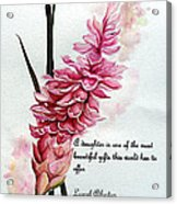 Ginger Lily Poem Acrylic Print