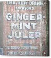 Ginger-mint Julep Acrylic Print