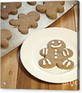 Gingerbread Cookies Acrylic Print by Juli Scalzi