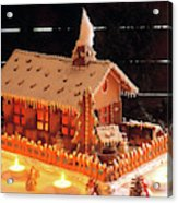 Gingerbread House, Traditional Acrylic Print