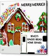 Gingerbread House Xmas Card 2 Acrylic Print
