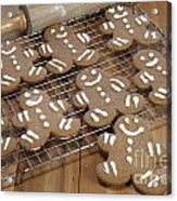 Gingerbread Man Cookies Acrylic Print