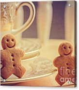 Gingerbread Men Acrylic Print