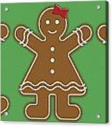 Gingerbread People Acrylic Print