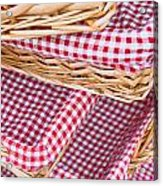 Gingham Baskets Acrylic Print