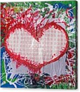 Gingham Crazy Heart Shrink Wrapped Acrylic Print