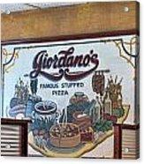 Giordanos Pizza Chicago Acrylic Print