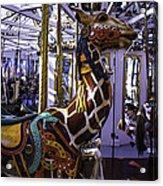 Giraffe Carousel Ride Acrylic Print