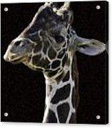 Giraffe In The Morning Pixelated Acrylic Print