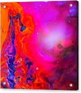 Giraffe In The Universe - Abstract Painting Acrylic Print