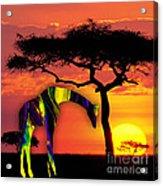 Giraffe Painting Acrylic Print