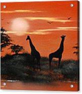 Serengeti Sunset Sold Acrylic Print